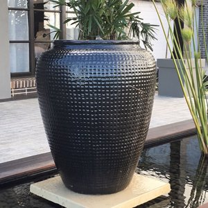 Dimple Pot Black